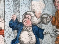 Dr Slop (detail) from Henry Bunbury, 'The Battle of the Cataplasm', 1773 (The Laurence Sterne Trust).