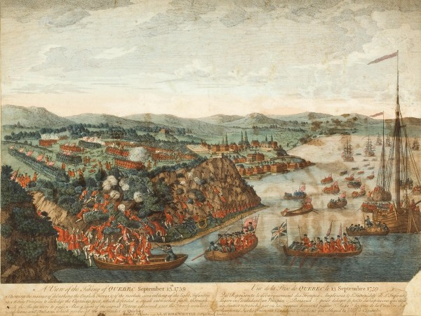 Engraving after Hervey Smith, 'A View of the Taking of Quebec, September 13, 1759', 1797 (Musee national des beaux-arts du Quebec).