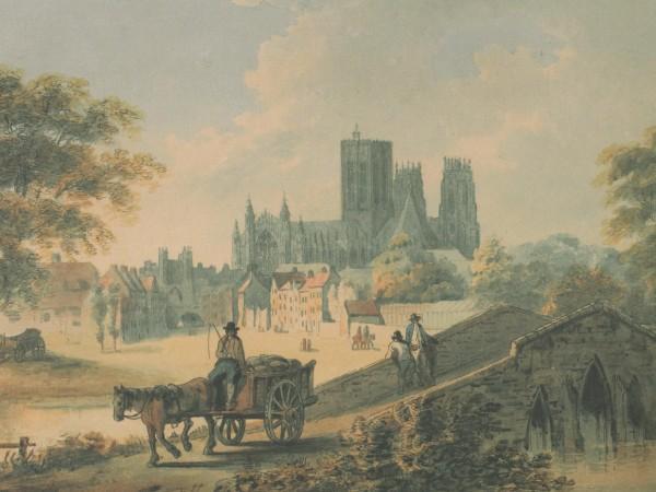 William Payne, 'York from Monk Bridge', c.1790 (York Art Gallery).