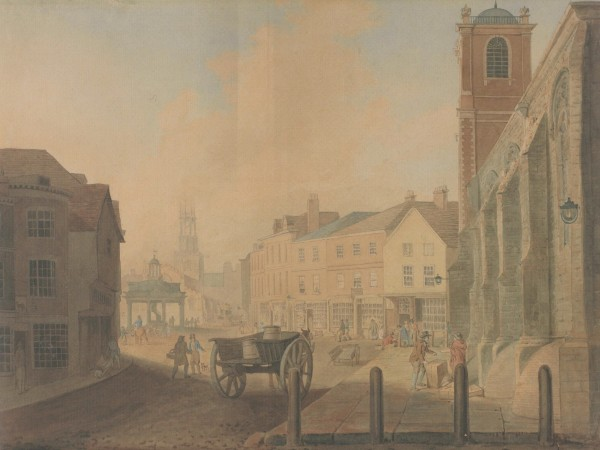 Thomas White, 'St Crux Church and Pavement', 1802 (York Art Gallery).