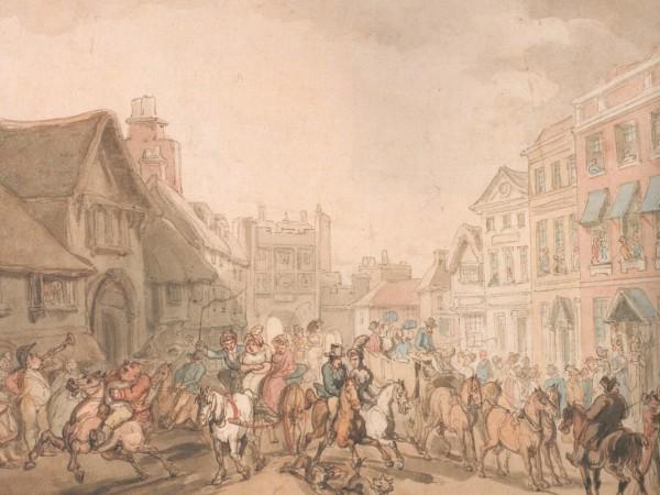 Thomas Rowlandson, 'Race Day at York', c.1800 (York Art Gallery).