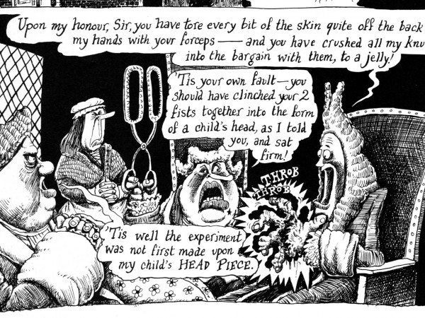 From Martin Rowson's The Life and Opinions of Tristram Shandy, Gentleman (1996, 2010) (© Martin Rowson)