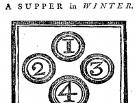 [2] Elizabeth Moxon's winter supper from English Housewifry (first published 1741)