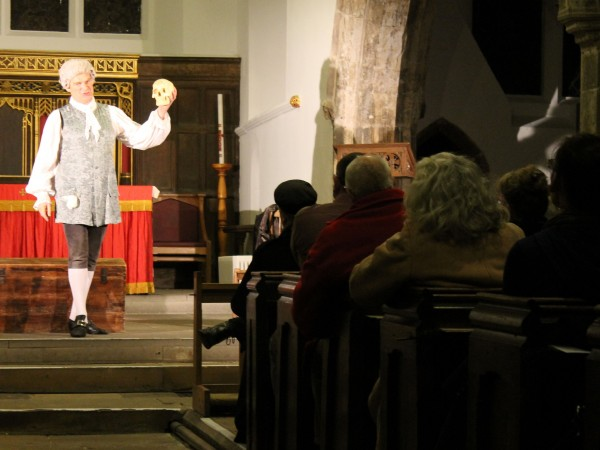Stephen Oxley performs 'Tristram Shandy' at St Helen's Church, York (23 November 2013)