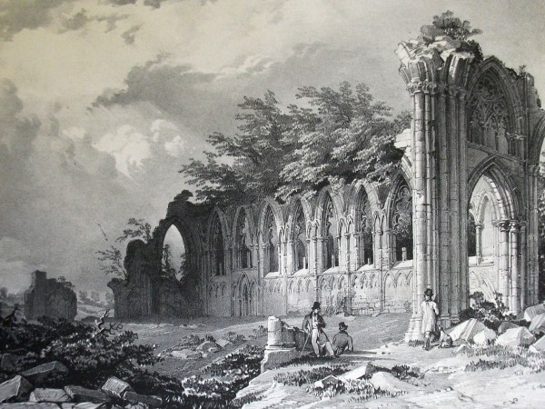 St Mary's Abbey in the Museum Gardens, York (1831). Engraving after Frances Atkinson (©York Art Gallery)